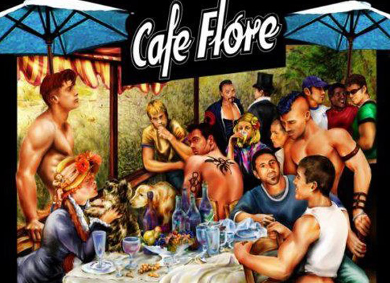 Cafe Flore Gay Pride