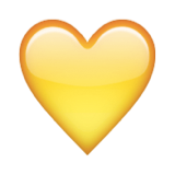 170 yellow heart