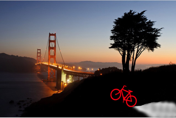 Golden Gate Bridge and a Bike